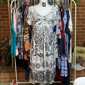 APT. 9 B&W embellished paisley print midi dress XL